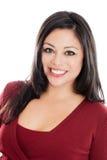 Hispanic woman headshot portrait isolated on white Stock Images