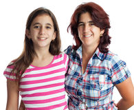 Hispanic woman and her teenage daughter Royalty Free Stock Photo