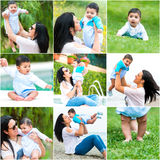 Hispanic woman and her young son Royalty Free Stock Images