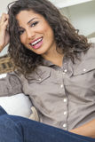 Hispanic Woman Laughing With Perfect Teeth Stock Image