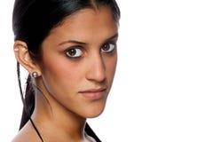 Hispanic woman portrait horizontal Stock Photos