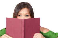 Hispanic Woman Reading a Book Stock Image