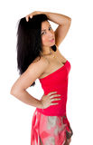 Hispanic woman sexy pose Stock Photography