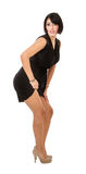 Hispanic woman showing legs royalty free stock photography
