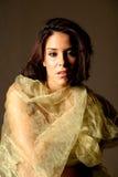 Hispanic woman in silk Stock Photo