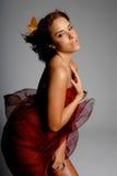 Hispanic woman in silk Royalty Free Stock Photo