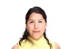 Hispanic woman on white backlground Stock Photos