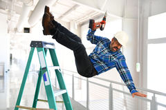 Free Hispanic Worker Falling From Ladder Stock Photography - 83165022