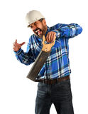 Hispanic Worker Suffering Accident Royalty Free Stock Images