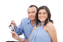 Hispanic young couple expecting a child Royalty Free Stock Photo