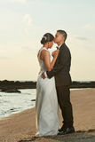 Hispanic young married couple Stock Photos