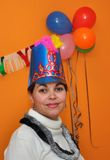 Hispanic Young Woman at a New Years Eve Party Royalty Free Stock Photo