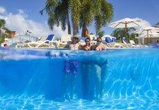 Hispaniolaeiland, Dominicaanse Republiek, Hotel Grote Bahia Principe Aquamarine, 12 07 2018 stock afbeelding