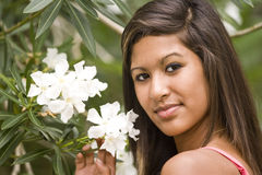 hispanique de fille d'adolescent Photo stock