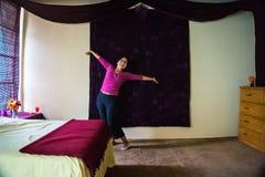 Hispanische Frau erfreut Lizenzfreies Stockbild
