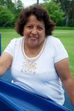 Hispanische Frau in ihren Fünfziger Jahren Stockfoto