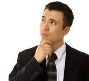 Hispanisches Geschäftsmann-Denken Lizenzfreies Stockbild