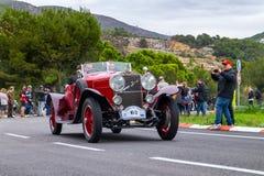 Hispano Suiza T48, rallye Barcelona för bil för tappning för upplaga för Th 60 internationell - Sitges fotografering för bildbyråer