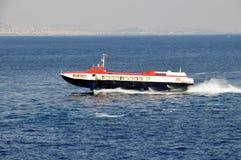 hispeed łódkowaty delfin Zdjęcia Royalty Free