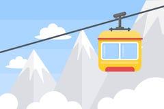 Hiss i berg stock illustrationer