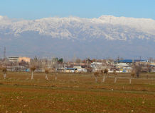 Hissar range. View of the Hissar range from Hissar valley in the suburbs of Dushanbe Tajikistan Stock Photography