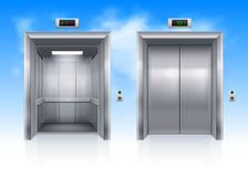Hissdörrar Arkivbild