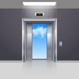 Hissdörrar Arkivfoto