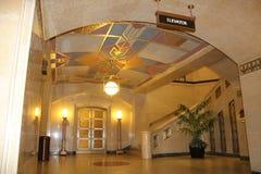 Hisslobby, Ohio juridisk mitt, högsta domstolen av Ohio, Columbus Ohio royaltyfria bilder