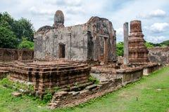 A história antiga do palácio de Phra Narai em Lopburi Fotografia de Stock
