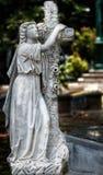 História antiga velha do cemitério da estátua Fotografia de Stock