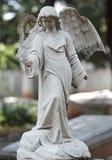História antiga velha do cemitério da estátua Imagens de Stock Royalty Free