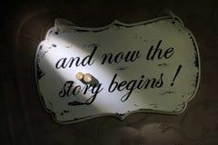 A história começa Fotografia de Stock