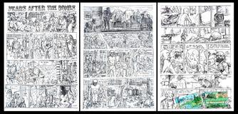 História da ficção científica Imagens de Stock Royalty Free