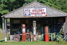 História da gasolina e do petróleo Foto de Stock