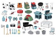 História de acampamento ilustração do vetor