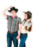 História de amor do cowboy Fotos de Stock
