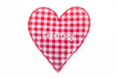 História de amor em um coração Símbolo do feriado imagem de stock