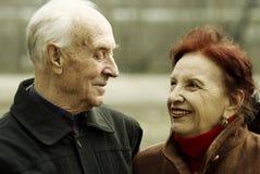 História de amor sênior Fotografia de Stock Royalty Free