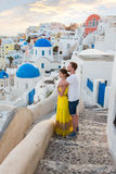 História de amor Santorini foto de stock royalty free