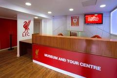 A história de Liverpool FC, o museu de Liverpool FC no Reino Unido Fotos de Stock
