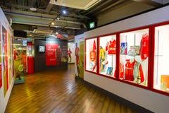 A história de Liverpool FC, o museu de Liverpool FC no Reino Unido Imagens de Stock
