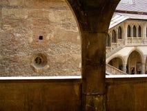 História do huniazilor da Transilvânia do hunedoara do castelo de Corvin gótico imagens de stock