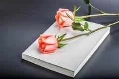 História do livro e da Rosa Fotos de Stock Royalty Free