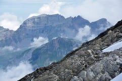 História dos alpes Foto de Stock