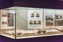História e cultura de Shu na coluna antes e depois do pavilhão imagem de stock