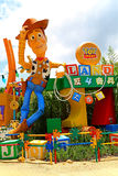 História pixar do brinquedo de Disney arborizado em Disneylândia Hong Kong Imagens de Stock Royalty Free