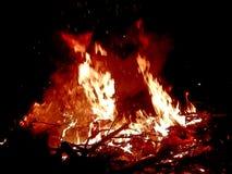 Histórias do fogo do acampamento Fotografia de Stock