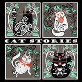 Histórias interessantes do gato Imagem de Stock