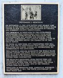 9/11 histórico conmemorativo firma adentro Janesville céntrico, WI Fotografía de archivo libre de regalías