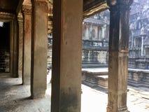 Histórico construido Configuración antigua Angkor Wat Templo hindú Siem Reap camboya fotografía de archivo